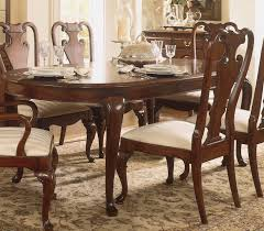 10 Queen Anne Cherry Dining Room Set Table Luxury Crescent