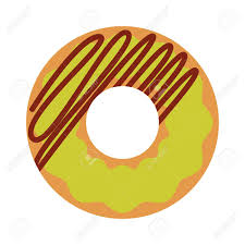 Cute Sweet Colorful Donut Isolated Chocolate Or Cream Yummy Cookie Donuts Food Candy Decoration