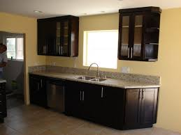 Dark Wood Cabinet Kitchens Colors The Image From Dark Cabinet Kitchen Interior Decorations