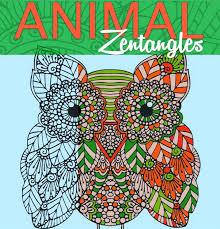 Animal Zenrangles Adult Coloring Book