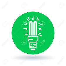 fluorescent light bulb icon compact lightbulb sign cfl bulb