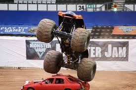 100 Truck Jump Monster Truckjumpextremesportsautomobile Free Photo From