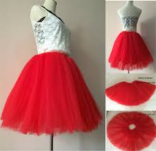 7 layers korean women puffy high waist mesh tulle short tutu skirt