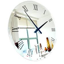 Wayfair Decorative Wall Clocks by Compact Large Mirrored Wall Clock 104 Extra Large Mirrored Wall
