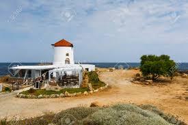100 Molos Restaurant In An Old Windmill On The Coast Near Village