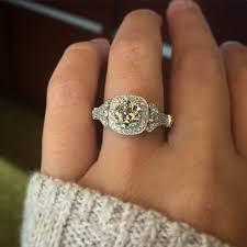 Vintage Halo Engagement Ring