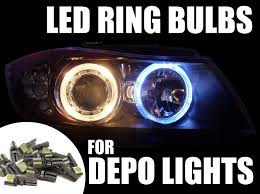 16 x 286 canbus led bulbs for vauxhall astra mk5 h depo angel eye