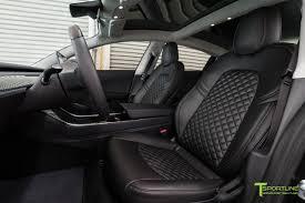Dragon Fire Red Model 3 - Custom Black Leather Interior – TSportline ...