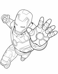 Click To See Printable Version Of Avengers Iron Man Coloring Page