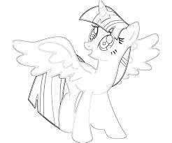 Alicorn Coloring Pages Twilight My Little Pony Sparkle With
