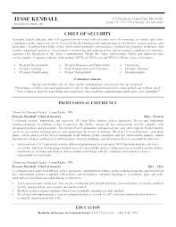 Security Guard Resume Template Law Enforcement Criminal Justice Sample