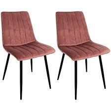 nimara 2er set samt stuhle esszimmerstuhl rosa polsterstuhl skandinavisches design in der küche wohnzimmer esszimmer anwendbar samtstuhl mit