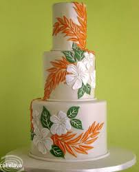 Tiered Aloha Cake Featuring Hawaiian Flowers