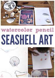 Drawing Seashells With Watercolor Pencils