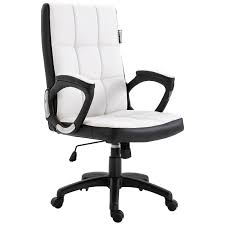 Vinsetto Office Chair Game Study High Back Adjustable Height PU Leather  Padded Swivel Base Castor Wheels White Buy Office Chair Ea 119 Style Premium Leather Wheels China High Back Emes Swivel Chairs With Yaheetech White Desk Wheelsarmes Modern Pu Midback Adjustable Home Computer Executive On 360 Barton Ribbed W Thonet S 845 Drw Wheels Bonded 393ec3 Star Afwcom Ikea Office Chair White In Bradford West Yorkshire Gumtree 2 Adjustable Ribbed White Faux Leather Office Chairs With Wheels Eames Style Angel Ldon Against A Carpet Charming Black Genuine Arms Details About Classic Without Welsleather Wheelsexecutive