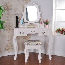 Hayworth Mirrored Dresser Antique White by Vanity Desk With Mirror And Drawers Carved Accent Glass Wall Panel
