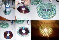 Easy Old CD Projects Ideas DIY For Home Decoration Cd Crafts Tutorial With Steps Of Making Clock Lamps And Candle Stand