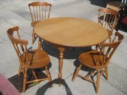 Polyurethane Leather Ladder Gold Set Of 2748 Oak Kitchen Table And