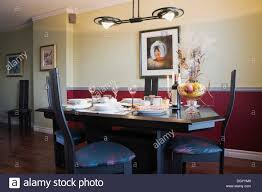 Dining Room Table And Chairs Inside A Residential Condominium Apartment Building Quebec Canada Property Released For