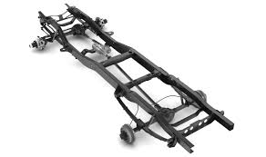 100 Truck Chassis PICKUP TRUCK CHASSIS 4WD 3D Model CGTrader