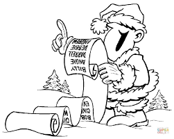 Click The Long Christmas List Coloring Pages To View Printable Version Or Color It Online Compatible With IPad And Android Tablets
