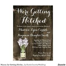 Country Wedding Invites Mason Jar Getting Hitched Rustic Invitations Canada Cheap