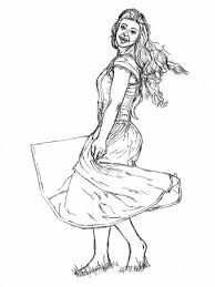 How To Draw A Woman In Dress