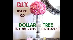 DIY Dollar Tree Bling Elegant Tall Wedding Centerpiece