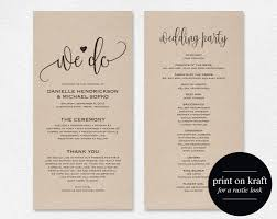 Wedding Program Template Printable We Do
