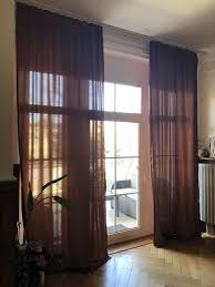 vorhänge gardinen braun bronze altbau 3 20 m lang