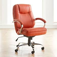 Amazon Brylanehome Extra Wide Woman s fice Chair Orange 0