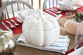 Pumpkin Soup Tureen Recipe by How To Have A Fall Dinner Party Honeybear Lane