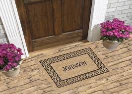Charleston Border Personalized Doormat Custom Logo Door Mats