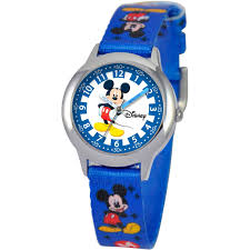 Mickey Mouse Ceiling Fan Globe by Disney Kids Mickey Mouse Time Teacher Blue And Silver Watch