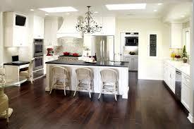 Dark Wood Kitchen Cabinets Luxury Light Floors With Flooring Design
