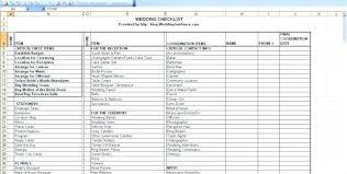 Wedding Budget Excel Template Planning Checklist Spreadsheet Printable