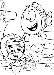 Bubble Guppies Coloring Pages Fish And Gil
