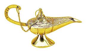 amazon com deco 79 09111 brass aladdin l 5 l home kitchen