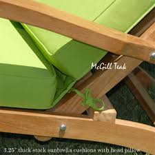 Teak Steamer Chairs Cushions by Outdoor Patio Steamer Cushion Sunbrella Custom Steamer Cushions
