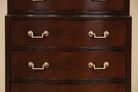 Birdseye Maple Serpentine Dresser by Sold Drexel Signed 1950 U0027s Vintage Mahogany Tall Lingerie Chest