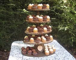 Wood Slice Cupcake Stand Rustic Cucake Cake XL