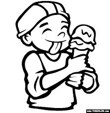 The Ice Cream Cone Coloring Page
