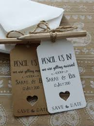 Pencil Us In Rustic Save The Date