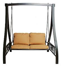 Hanamint Grand Tuscany Patio Furniture by Hanamint Grand Tuscany Swing And Stand W Cushion Straw Linen
