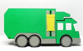 100 Rubbish Truck Card Free Cut File