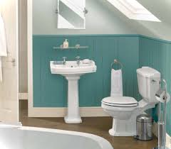 Dark Colors For Bathroom Walls by Pink And White Wall Paint Bathtub Wooden Laminate Flooring Toilet