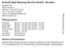 ᐅ öffnungszeiten krobath bad heizung service gmbh