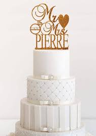 Wedding Cake Topper Personalized Rose Gold Custom Mr And Mrs Last Name Rustic
