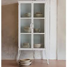 vintage vitrine feminine metall weiß auswahl 1 x vintage