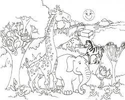 Printable Giraffe Coloring Pages For Kids Page Picture Of Zoo Animals To Print Animal